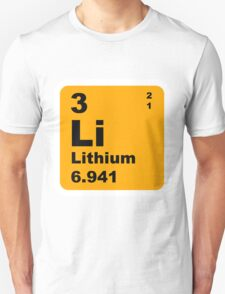 Lithium Periodic Table of Elements Unisex T-Shirt