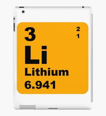 Lithium Periodic Table of Elements iPad Case/Skin