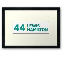 Mercedes F1 Driver: Lewis Hamilton #44 Grungy  Framed Print
