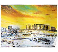 Stonehenge in the winter of 47. Poster
