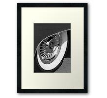 Black & White wall tyre Framed Print