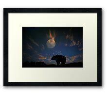 Bear and Moon  Framed Print