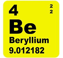 Beryllium Periodic Table of Elements by walterericsy