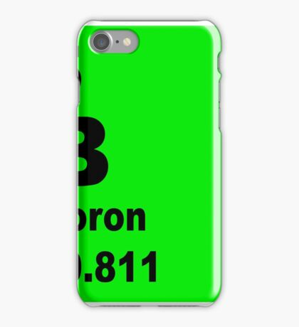 Boron Periodic Table of Elements iPhone Case/Skin
