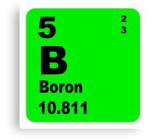 Boron Periodic Table of Elements Canvas Print