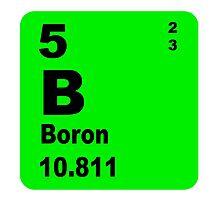 Boron Periodic Table of Elements Photographic Print