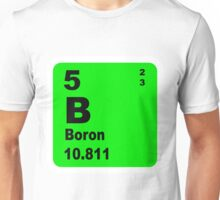 Boron Periodic Table of Elements Unisex T-Shirt