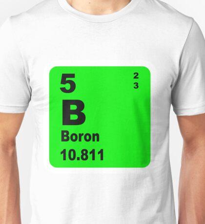 Boron Periodic Table of Elements Unisex T-Shirt