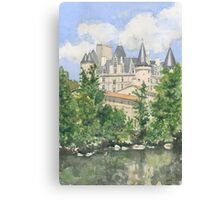 The Château, La Rochefoucauld, France Canvas Print