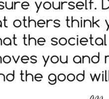 Misha Quote #1 Sticker