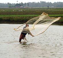 The fisherman's net. by debjyotinayak