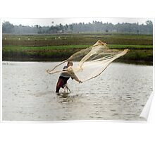 The fisherman's net. Poster