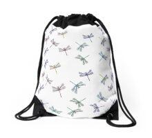 Blue Dragonfly Drawstring Bag
