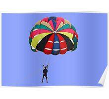 The fun of parasailing. Poster