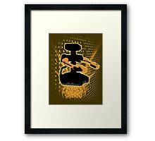 Super Smash Bros Yellow/Gold ROB Silhouette Framed Print