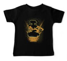 Super Smash Bros Yellow/Gold ROB Silhouette Baby Tee