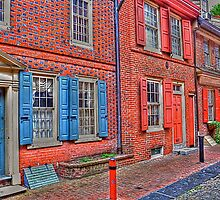 The Row Homes of Elfreth's Alley by Monte Morton