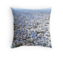 """The Blue City"", Jodphur, India. Throw Pillow"