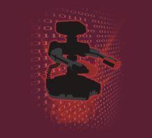 Super Smash Bros Red ROB Silhouette T-Shirt