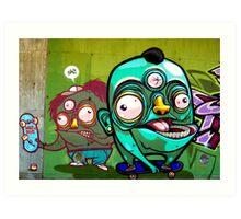 Wacky Sk8ers Art Print
