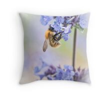 Blue Nectar Throw Pillow