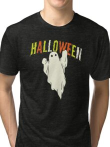 Halloween ghost Tri-blend T-Shirt
