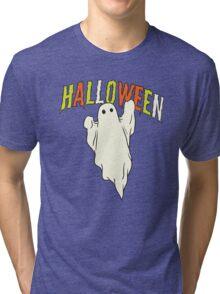 Halloween ghost Tri-blend T-Shirt