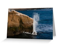 Exploding against the rocks Greeting Card