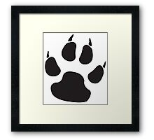 PAW, PADS, CLAWS, Cats Paw, Catspaw, Dog Paw, Cat, Dog, Pet, foot, track, scratch, BLACK Framed Print