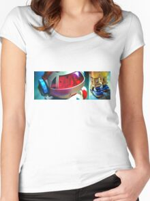 Retro Robot 2 Women's Fitted Scoop T-Shirt