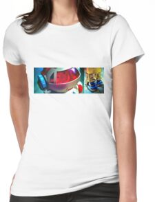 Retro Robot 2 Womens Fitted T-Shirt