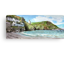 """Chaff Cove # 1"" - Port Isaac, Cornwall Canvas Print"