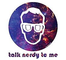 NERDY TALK ― for him Photographic Print