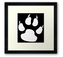 WHITE PAW, PADS, CLAWS, Cats Paw, Catspaw, Dog Paw, Cat, Dog, Pet, foot, track, scratch Framed Print