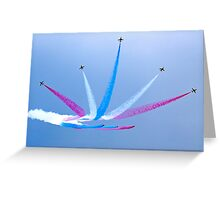 Red Arrows at Lowestoft Airshow (Aug 2010) Greeting Card