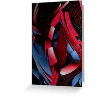 Abstract Mural Greeting Card