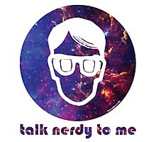 NERDY TALK ― for her Photographic Print