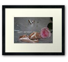 Ballet Beauty Birthday Card Framed Print