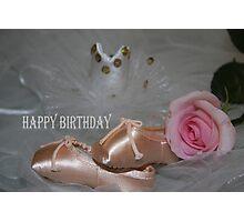 Ballet Beauty Birthday Card Photographic Print
