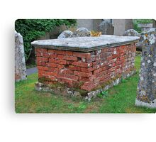 Brick Tomb Canvas Print