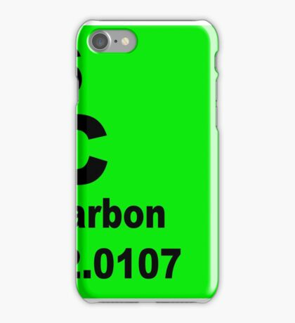 Carbon Periodic Table of Elements iPhone Case/Skin