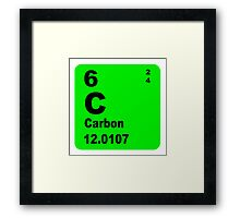 Carbon Periodic Table of Elements Framed Print