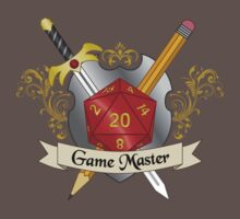 Game Master Red d20 Crest Kids Clothes