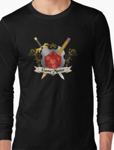 Game Master Red d20 Crest Long Sleeve T-Shirt