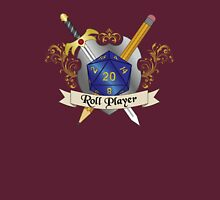 Roll Player Blue d20 Crest Unisex T-Shirt