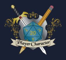 Player Character d20 Crest Kids Tee