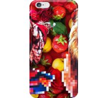 Woman and a lion in a fruit salad iPhone Case/Skin