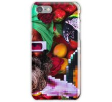 Man and a parrot in a fruit salad iPhone Case/Skin