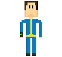 FALLOUT 4 - 8-Bit Sole Survivor Design by doughballdesign