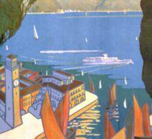 Lago di Garda Lake Garda Vintage Poster Restored Sticker